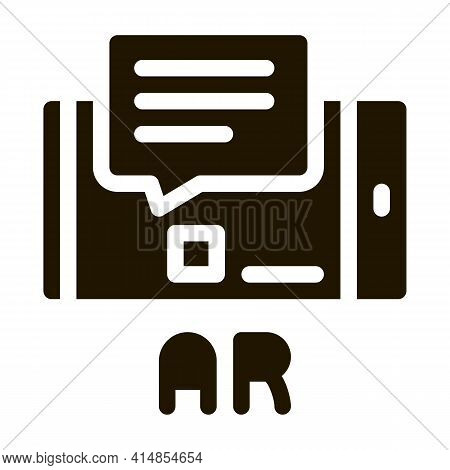 Augmented Reality In Phone Glyph Icon Vector. Augmented Reality In Phone Sign. Isolated Symbol Illus