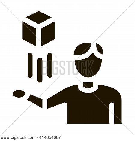 Virtual Reality Representative Glyph Icon Vector. Virtual Reality Representative Sign. Isolated Symb