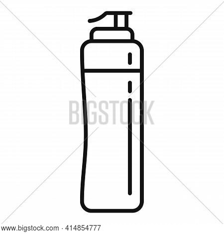 Gym Water Bottle Icon. Outline Gym Water Bottle Vector Icon For Web Design Isolated On White Backgro
