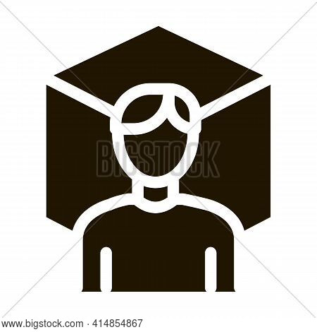 Reality Designer Glyph Icon Vector. Reality Designer Sign. Isolated Symbol Illustration