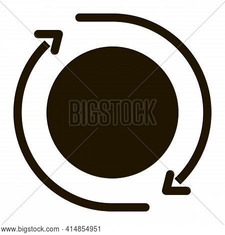 360 Degree View Glyph Icon Vector. 360 Degree View Sign. Isolated Symbol Illustration