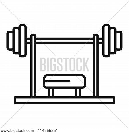 Gym Professional Bench Icon. Outline Gym Professional Bench Vector Icon For Web Design Isolated On W