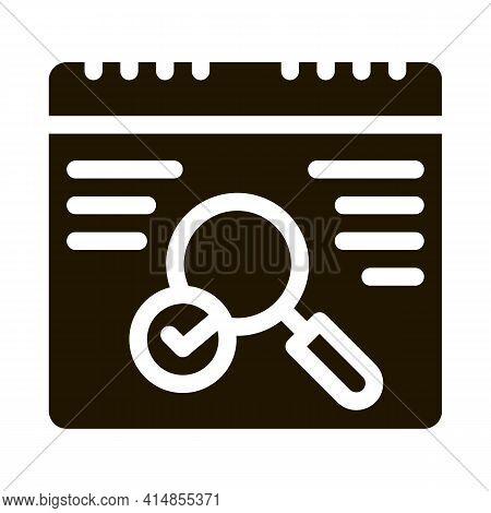 No Error Detection Glyph Icon Vector. No Error Detection Sign. Isolated Symbol Illustration