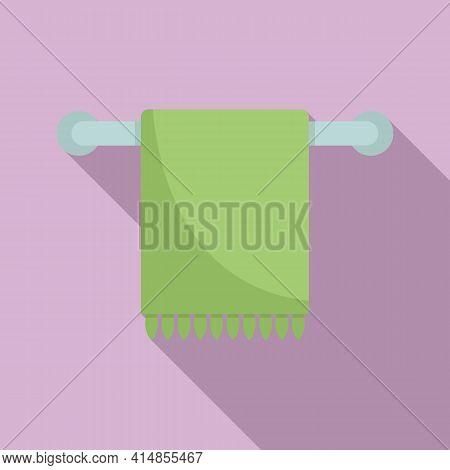 Bathroom Heated Towel Rail Icon. Flat Illustration Of Bathroom Heated Towel Rail Vector Icon For Web