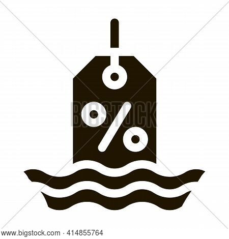 Floating Interest Glyph Icon Vector. Floating Interest Sign. Isolated Symbol Illustration