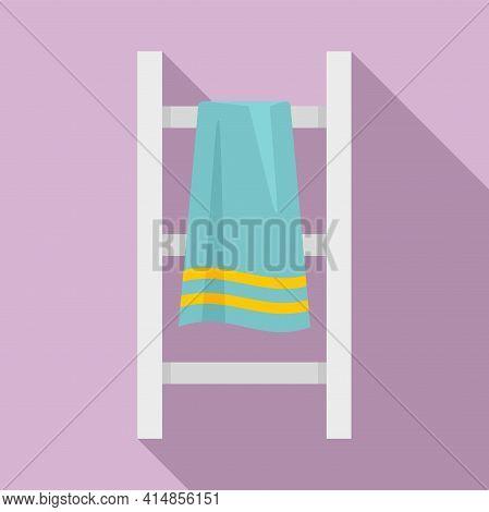 Modern Heated Towel Rail Icon. Flat Illustration Of Modern Heated Towel Rail Vector Icon For Web Des