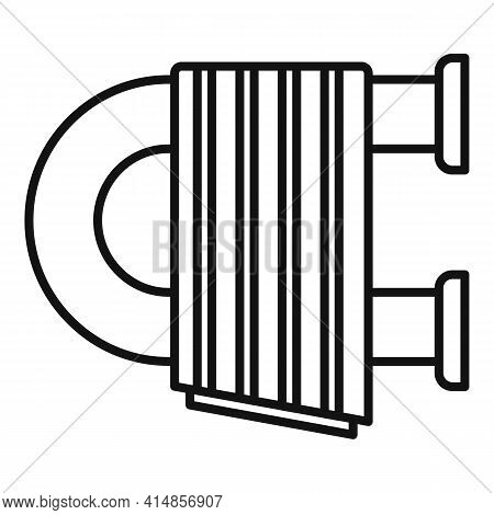 Care Heated Towel Rail Icon. Outline Care Heated Towel Rail Vector Icon For Web Design Isolated On W
