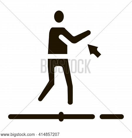 Work With Movement Of Man Glyph Icon Vector. Work With Movement Of Man Sign. Isolated Symbol Illustr