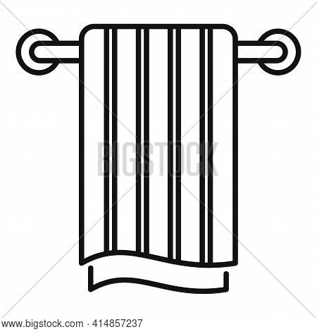 Pipe Heated Towel Rail Icon. Outline Pipe Heated Towel Rail Vector Icon For Web Design Isolated On W