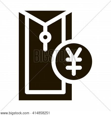 Chinese Thing For Currency Glyph Icon Vector. Chinese Thing For Currency Sign. Isolated Symbol Illus