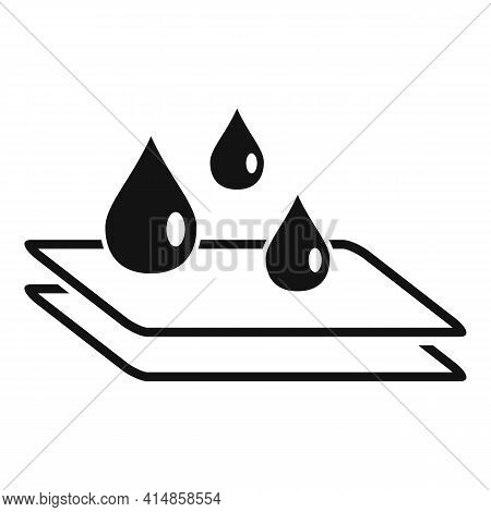 Waterproof Protective Glass Icon. Simple Illustration Of Waterproof Protective Glass Vector Icon For