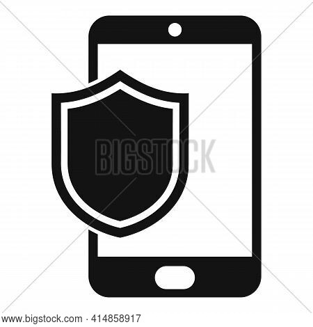 Protected Phone Display Icon. Simple Illustration Of Protected Phone Display Vector Icon For Web Des