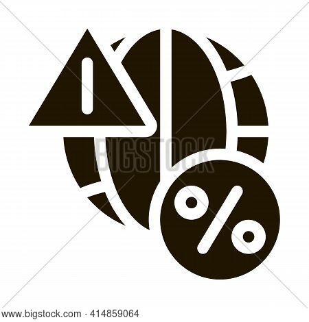 Global Interest Warning Glyph Icon Vector. Global Interest Warning Sign. Isolated Symbol Illustratio