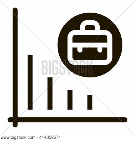 Recession Of Business Job Offers Glyph Icon Vector. Recession Of Business Job Offers Sign. Isolated
