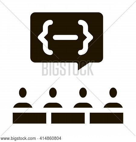 Audience Expresses An Opinion Glyph Icon Vector. Audience Expresses An Opinion Sign. Isolated Symbol