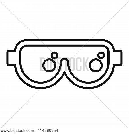 Ski Protective Glasses Icon. Outline Ski Protective Glasses Vector Icon For Web Design Isolated On W