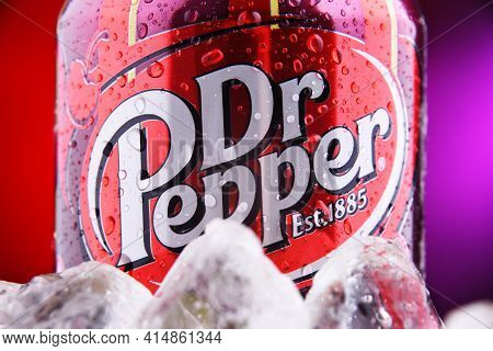 Can Of Carbonated Soft Drink Dr Pepper