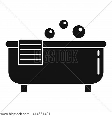 Hot Bath Tub Icon. Simple Illustration Of Hot Bath Tub Vector Icon For Web Design Isolated On White