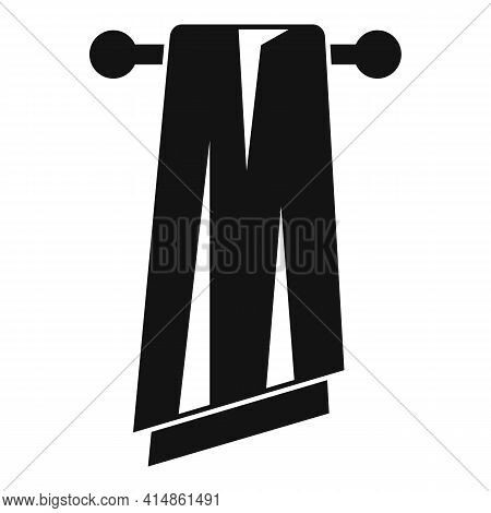 Bath Towel Icon. Simple Illustration Of Bath Towel Vector Icon For Web Design Isolated On White Back