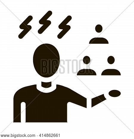 Racist Expression Glyph Icon Vector. Racist Expression Sign. Isolated Symbol Illustration