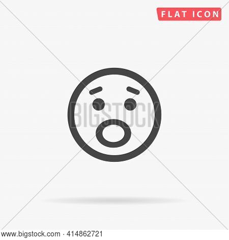 Surprise Face Flat Vector Icon. Hand Drawn Style Design Illustrations.