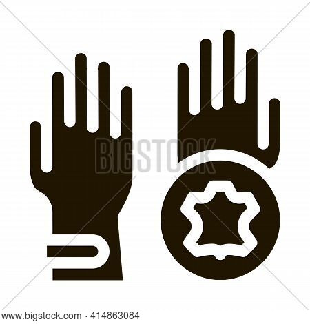 Leather Gloves Glyph Icon Vector. Leather Gloves Sign. Isolated Symbol Illustration