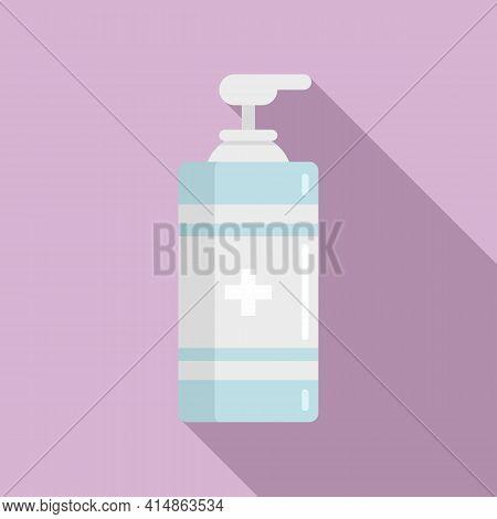 Antiseptic Gel Dispenser Icon. Flat Illustration Of Antiseptic Gel Dispenser Vector Icon For Web Des