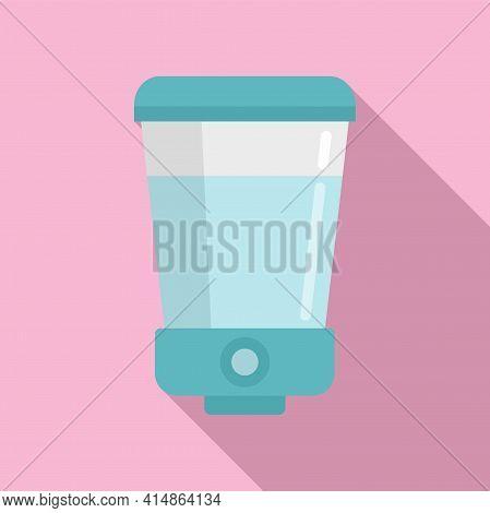 Soap Wall Dispenser Icon. Flat Illustration Of Soap Wall Dispenser Vector Icon For Web Design