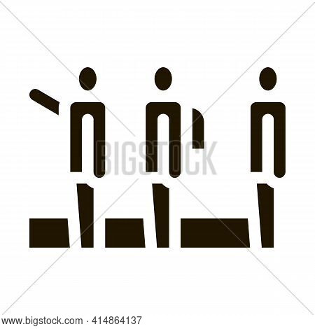 Tourists Hiking Glyph Icon Vector. Tourists Hiking Sign. Isolated Symbol Illustration