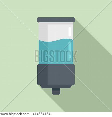 Gel Wall Dispenser Icon. Flat Illustration Of Gel Wall Dispenser Vector Icon For Web Design