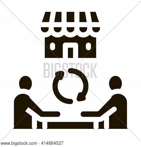 Franchise Partnership Glyph Icon Vector. Franchise Partnership Sign. Isolated Symbol Illustration