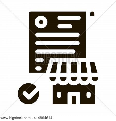 Franchise Contract Agreement Glyph Icon Vector. Franchise Contract Agreement Sign. Isolated Symbol I