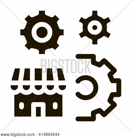Franchise Working Business Glyph Icon Vector. Franchise Working Business Sign. Isolated Symbol Illus