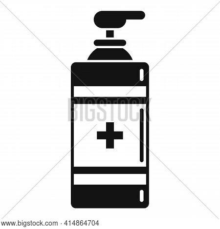 Antiseptic Gel Dispenser Icon. Simple Illustration Of Antiseptic Gel Dispenser Vector Icon For Web D