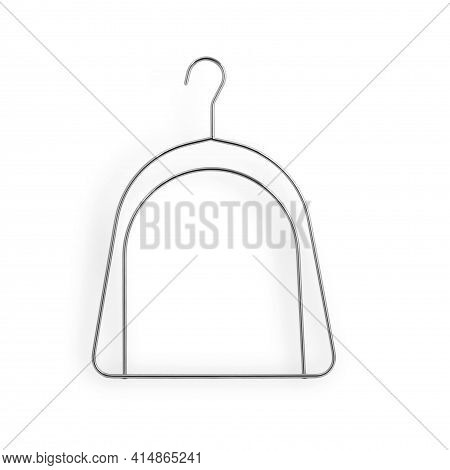 Modern Stylish Metal Clothes Hanger. Metal Hanger For Hats Made Of Chromated Zinc. Ultra-thin And Du