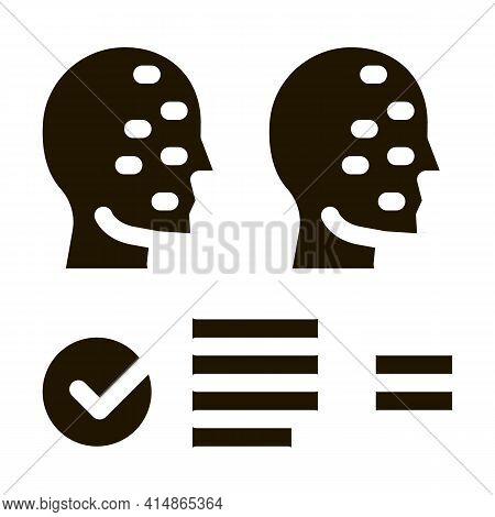 Deepfake Online Scanner Glyph Icon Vector. Deepfake Online Scanner Sign. Isolated Symbol Illustratio