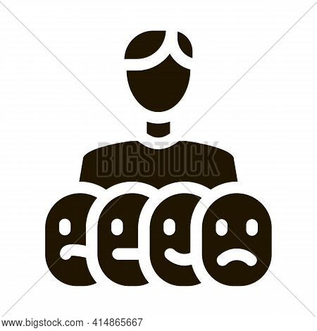 Facial Recognition Technology Glyph Icon Vector. Facial Recognition Technology Sign. Isolated Symbol