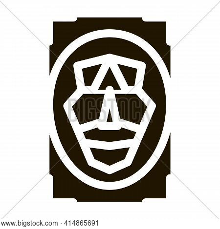 Human Profile Information Glyph Icon Vector. Human Profile Information Sign. Isolated Symbol Illustr
