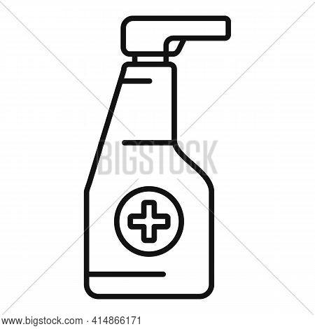Antiseptic Spray Bottle Icon. Outline Antiseptic Spray Bottle Vector Icon For Web Design Isolated On