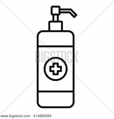 Antiseptic Hand Wash Icon. Outline Antiseptic Hand Wash Vector Icon For Web Design Isolated On White