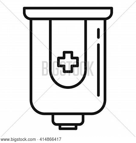 Antiseptic Wall Box Icon. Outline Antiseptic Wall Box Vector Icon For Web Design Isolated On White B