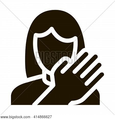 Hit Woman Glyph Icon Vector. Hit Woman Sign. Isolated Symbol Illustration