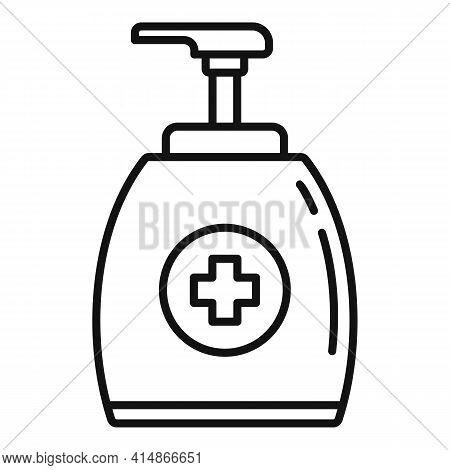 Sanitary Antiseptic Icon. Outline Sanitary Antiseptic Vector Icon For Web Design Isolated On White B