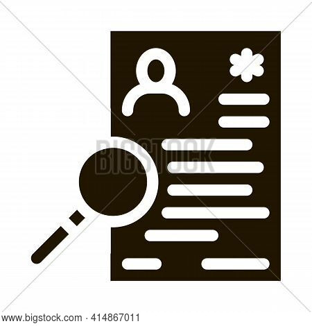 Research Cv Glyph Icon Vector. Research Cv Sign. Isolated Symbol Illustration