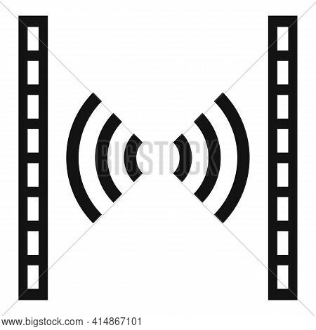 Soundproofing Barrier Icon. Simple Illustration Of Soundproofing Barrier Vector Icon For Web Design