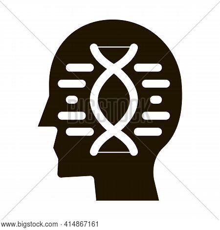 Human Dna Molecule Glyph Icon Vector. Human Dna Molecule Sign. Isolated Symbol Illustration