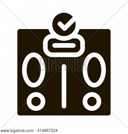 Weighing Device Glyph Icon Vector. Weighing Device Sign. Isolated Symbol Illustration