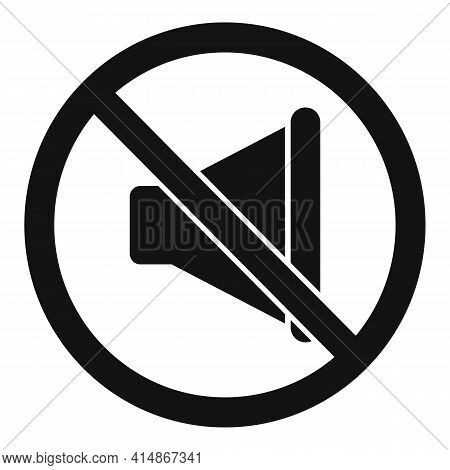 No Sound Noise Icon. Simple Illustration Of No Sound Noise Vector Icon For Web Design Isolated On Wh