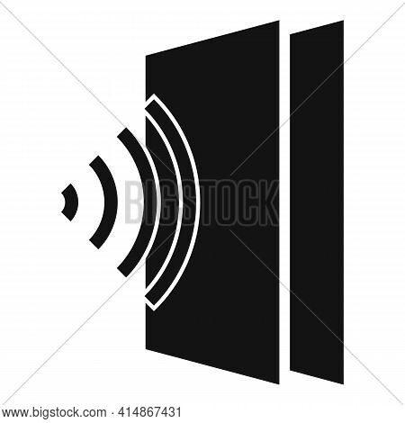 Sound Absorbent Icon. Simple Illustration Of Sound Absorbent Vector Icon For Web Design Isolated On