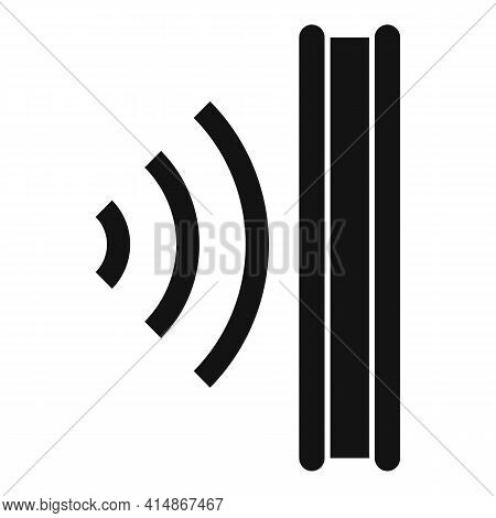 Sound Absorbing Icon. Simple Illustration Of Sound Absorbing Vector Icon For Web Design Isolated On